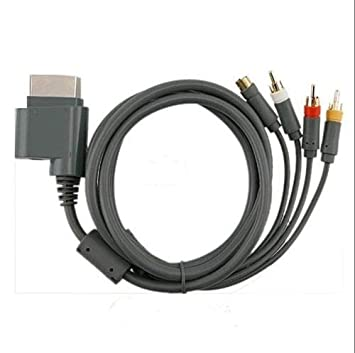 Insten av composite and s-video cable for microsoft xbox 360.