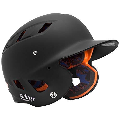 (Schutt Sports AiR 5.6 Softball Batter's Helmet, Matte Black, Large)