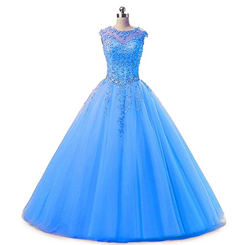 light blue ball gown - 7