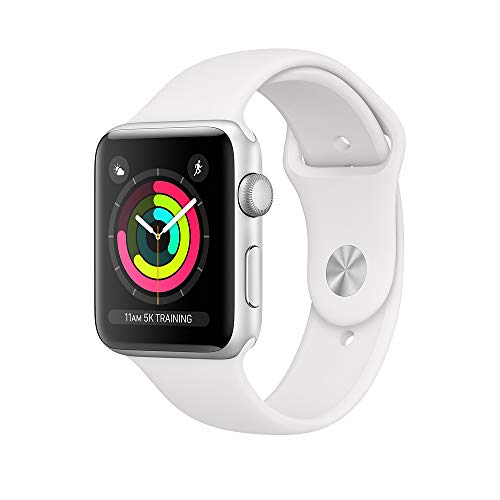 Apple Watch Series 3 42mm Smartwatch (GPS Only, Silver Aluminum Case, White Sport Band) (Refurbished)