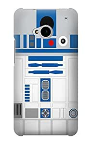 S1853 R2D2 Minimalist Case Cover For HTC ONE M7