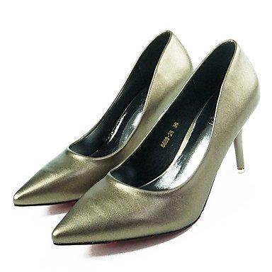 LvYuan-GGX Damen High Heels Fersenriemen Fersenriemen Heels PU Frühling Normal Fersenriemen Silber Gelb 5-7 cm, Silver, us6.5-7 / eu37 / uk4.5-5 / cn37 - 78fc88