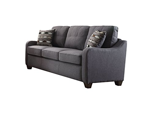 ACME Furniture 53790 Cleavon II Sofa with 2 Pillows, Gray Linen