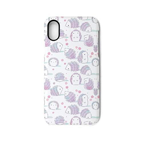 Hiunisyue iPhone X Case hedgehog outline sketch 1 Shock Absorption Technology Bumper Soft TPU Cover Case for iPhone X (Outline Hedgehog)