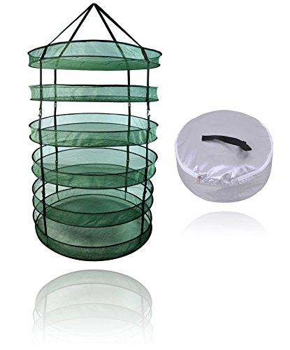 SPL Indoor Garden Hydroponic 6 Layer Detachable Plant Herb Drying Rack Hanging