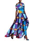 Comaba Women Africa Dashiki Long Pants Dress Suit Dovetail Long Dress 8 M