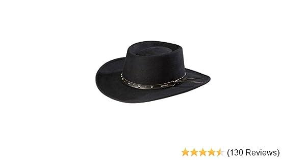 f4cc07c343b9e Amazon.com  Stetson Black Hawk Wool Felt Western Hat  Clothing