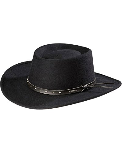 Black Stetson Men's Hawk Crushable Wool Gambler Hat