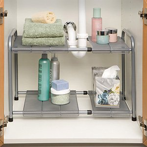 Funkybuys 2 Tier Adjustable Expandable Si K1004 Under The Sink