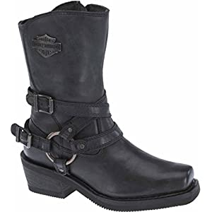 Harley-Davidson Women's Ingleside 8.5-Inch Motorcycle Boots D87091 (Black, 10)