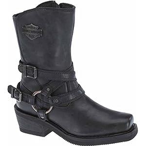 Harley-Davidson Women's Ingleside 8.5-Inch Motorcycle Boots D87091 (Black, 8)