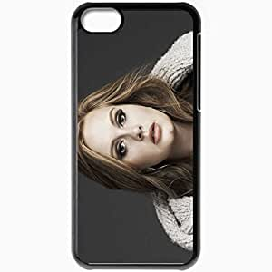 Personalized iPhone 5C Cell phone Case/Cover Skin Adele singer face Music Black