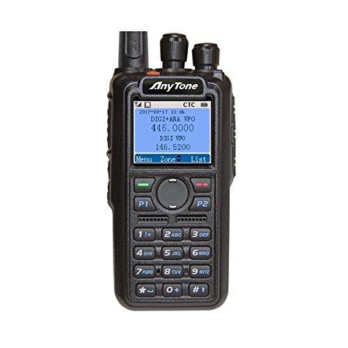 Price comparison product image ANYTONE AT-D868UV Version 2 + Free Genuine Nagoya NA-701 Antenna ($21value), W / GPS Dual Band DMR / Analog Portable Radio –(VHF 136-174 & UHF 400-480 MHz) 3100mAh Battery