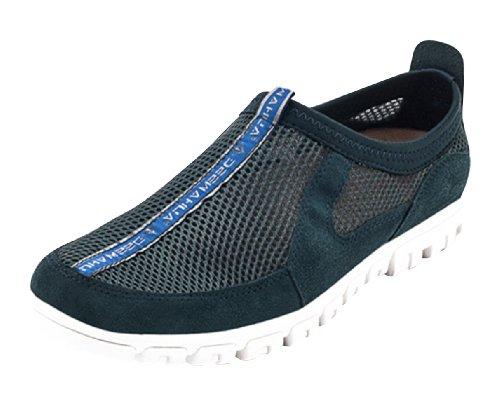 Summer Chaussures Flats Mesh Zip Hommes Sneaker Bleu Respirant Dilize wxqFXzRX