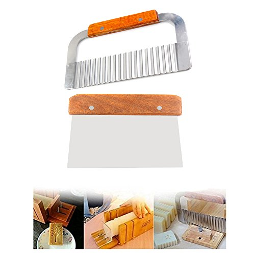 ss Steel Wavy & Straight Soap Mold Loaf Cake Cutter Cutting Tools set (Wavy Slicer)