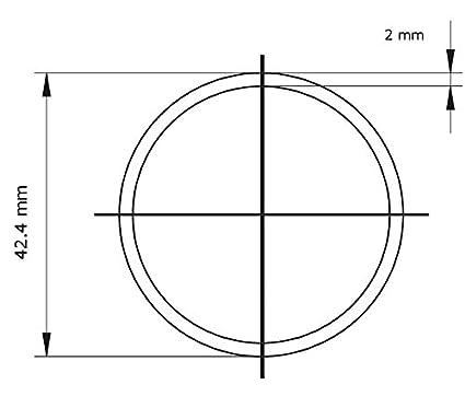 42.4/X 2/Mm 1.4301/240/grano pulido de 100/ Tubo de acero inoxidable geschw /3000/mm 700