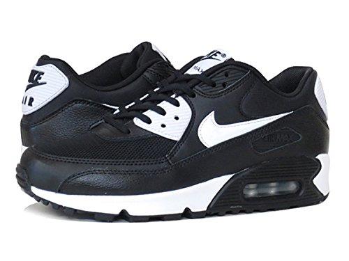 Nike Womens Air Max 90 Black White Metallic Silver