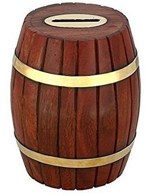 Amazon.com: gocraft hecho a mano barril forma dinero titular ...