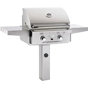 24NG In-Ground Natural Gas Grill with 432 sq. in. Cooking Area and Rotisserie Backburner: Stainless