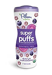 Plum Organics Baby Super Puffs Purples, Blueberry & Purple Sweet Potato, 1.5 Ounce Containers (Pack of 8)