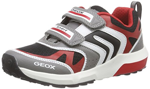 Geox J Asteroid Boy B - Zapatos Primeros Pasos Para Niños, Grau (GREY/REDC0051), 27