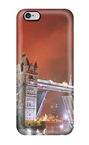 Iphone 6 Plus Hard Back With Bumper Silicone Gel Tpu Case Cover Light Up The Night Tower Bridge