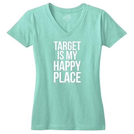 fd1062f9 Amazon.com: Target is My Happy Place V-Neck T-Shirt - Mint XL: Clothing