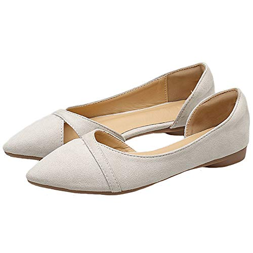 casual comfortable side shoes ladies shallow work flat shoes EU work Pointed shoes low hollow FLYRCX fashion 35 heel shoes ZxwWBn1Wq