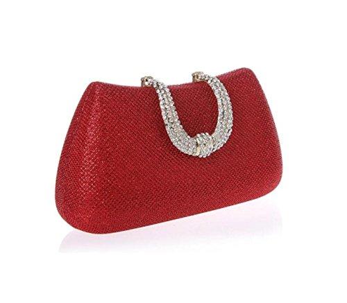 GSHGA Paquet Sacs Femmes Red Sac Femme Mariée Pochette De Sac De Banquet Paquet Diamant Mariage Soirée à Gold De Main q1ARrCRFw