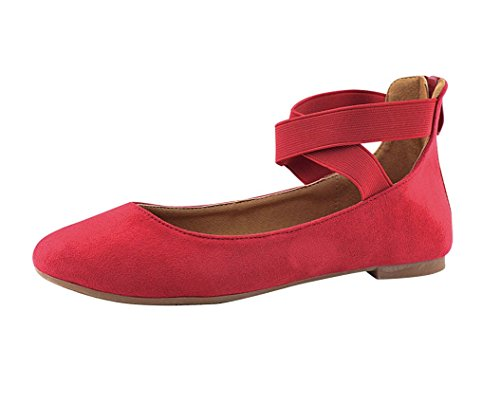 Anna Girl Kids Dress Ballet Flat Elastic Ankle