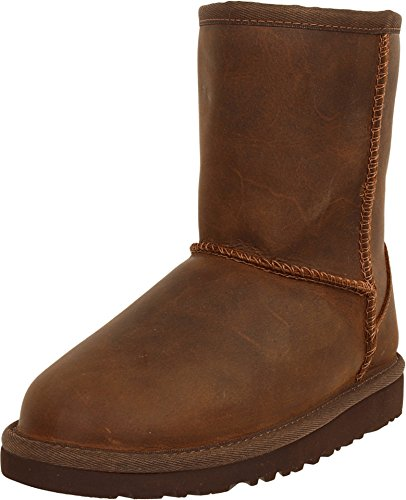 UGG Australia Girls Classic Short Leather Boot Chestnut Size 4 by UGG