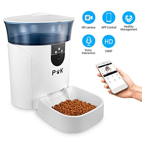 PUPPY KITTY 6.5L Automatischer Futterautomat für Katze und Hund, Automatischer Futterspender mit Timer mit bis zu 4…