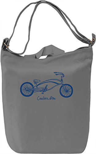 Cruiser bike Borsa Giornaliera Canvas Canvas Day Bag| 100% Premium Cotton Canvas| DTG Printing|