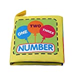 1 Pc(10pages) Baby Cloth Book Toddler Activity Book for Baby Early Education Development Learning Activity Toy Number