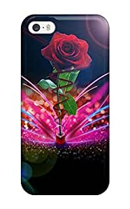 LastMemory Case For Iphone 5C Cover Protective Case Roses Flower