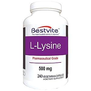 L Lysine 500mg (240 Vegetarian Capsules)