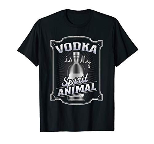Drinking T-Shirt Vodka Is My Spirit Animal Tshirt