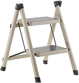 BBG Fácil y multifuncional plegable conveniente taburete de paso, los niños de 2-pasos de escalera escaleras escalera de mano heces hogar escalera de aislamiento escalera de hierro Paso,gris del meta: Amazon.es: Bricolaje