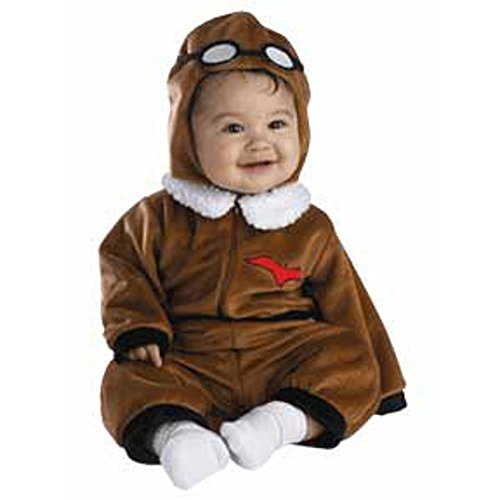 Infant Baby Red Barron Pilot Costume (3-12 Months), Brown -