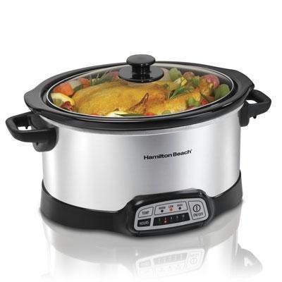 Hamilton Beach Programmable 5 Quart Slow Cooker (33453), Black (5 Qt Programmable Crock Pot)