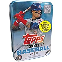 $31 » 2021 Topps Series 1 MLB Baseball Tin (75 cards/bx, Baez)