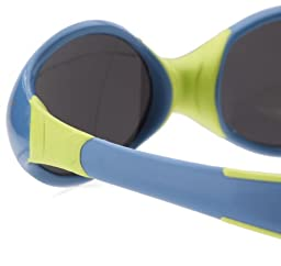 Julbo Looping II Baby Sunglasses, Spectron 4 Baby Lens, Blue/Lime Green, 12-24 months