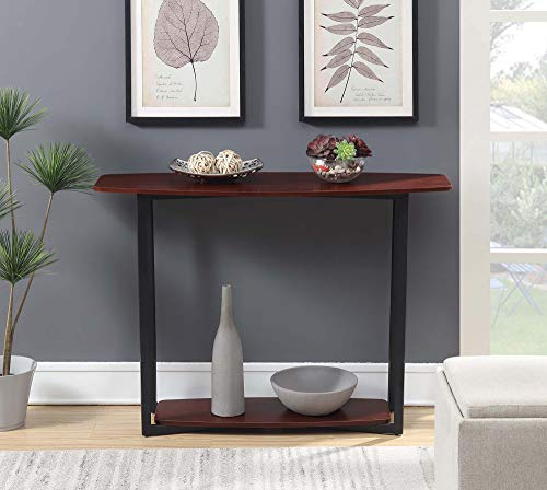 Convenience Concepts Graystone Console Table, Cherry/Black Frame ()