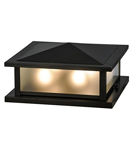 (Meyda Tiffany Seneca Prime Zasb Craftsman Four-Light Outdoor Pier Mount Light)