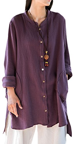 Soojun Womens Button Cotton Cardigan