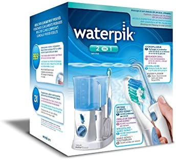 Waterpik WP700 2 en 1 - Irrigador oral y cepillo de dientes Nano-Sonic