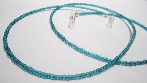 ATLanyards Deep Ocean Blue Beaded Eyeglass Holder- Deep Ocean Blue Eyeglass Holder Chain