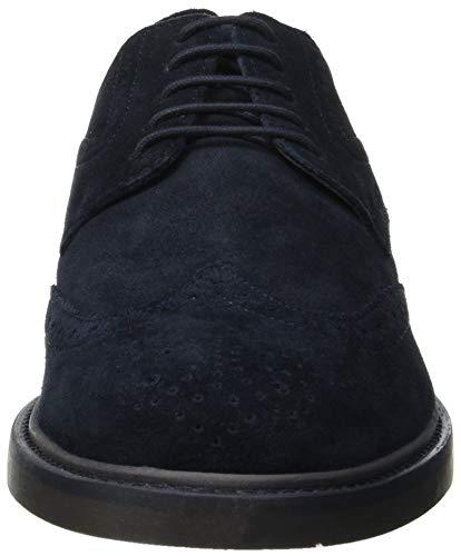 Cordones Hombre Para Zapatos Brogue C4002 navy De C U Silmor Geox 8qfXAf