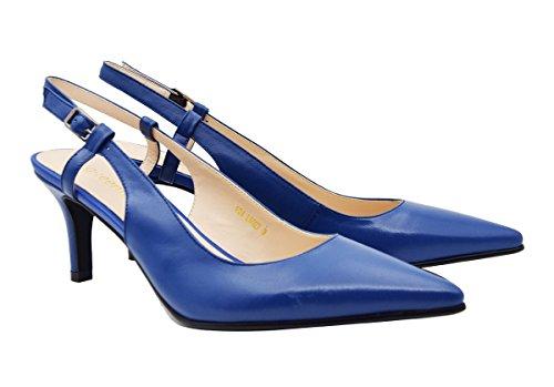 Pump6027 Leather Bas A Femme Queenfoot blue ZxUdq0p