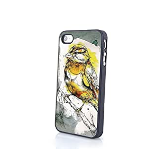 Generic PC Phone Cases Vivid Cute 3D Bird Matte Pattern fit for Comic Colorful iPhone 4/4S Cases
